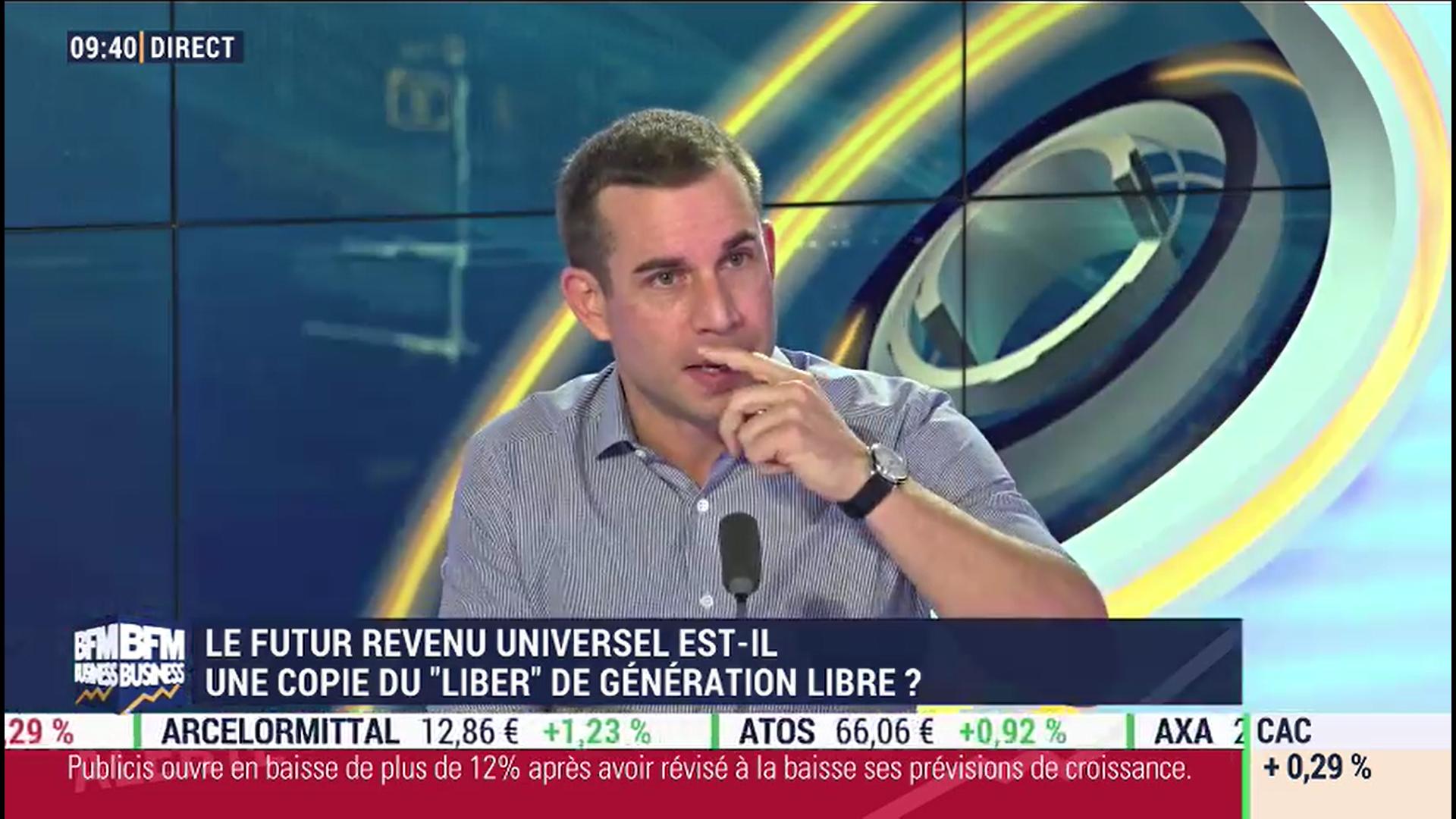 Revenu universel, impôts : le regard éco de Maxime