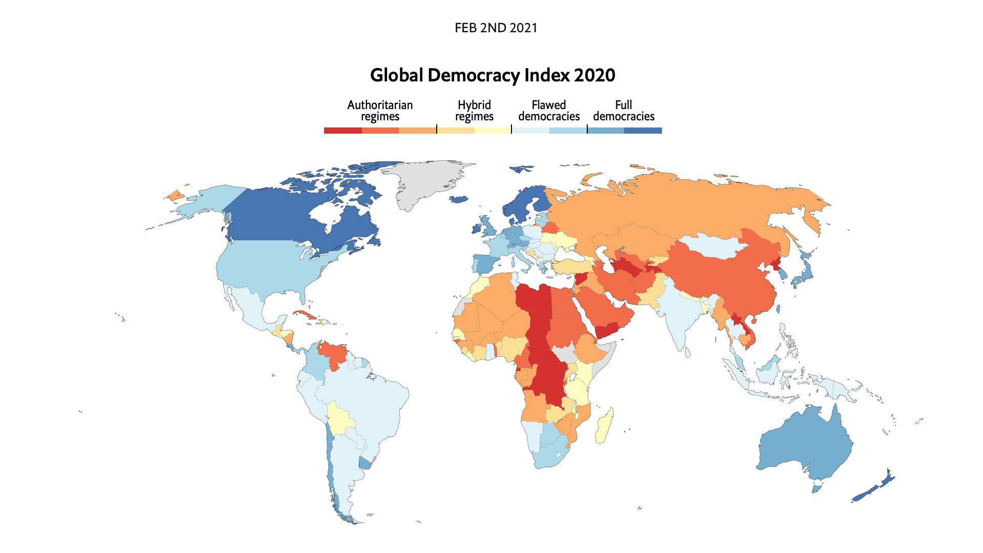 [Lu Ailleurs] : La France rétrogradée «démocratie défaillante» par The Economist
