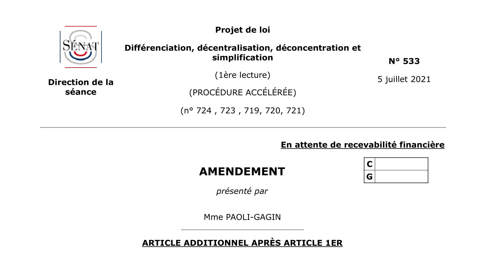 Décentralisation : notre proposition au Sénat