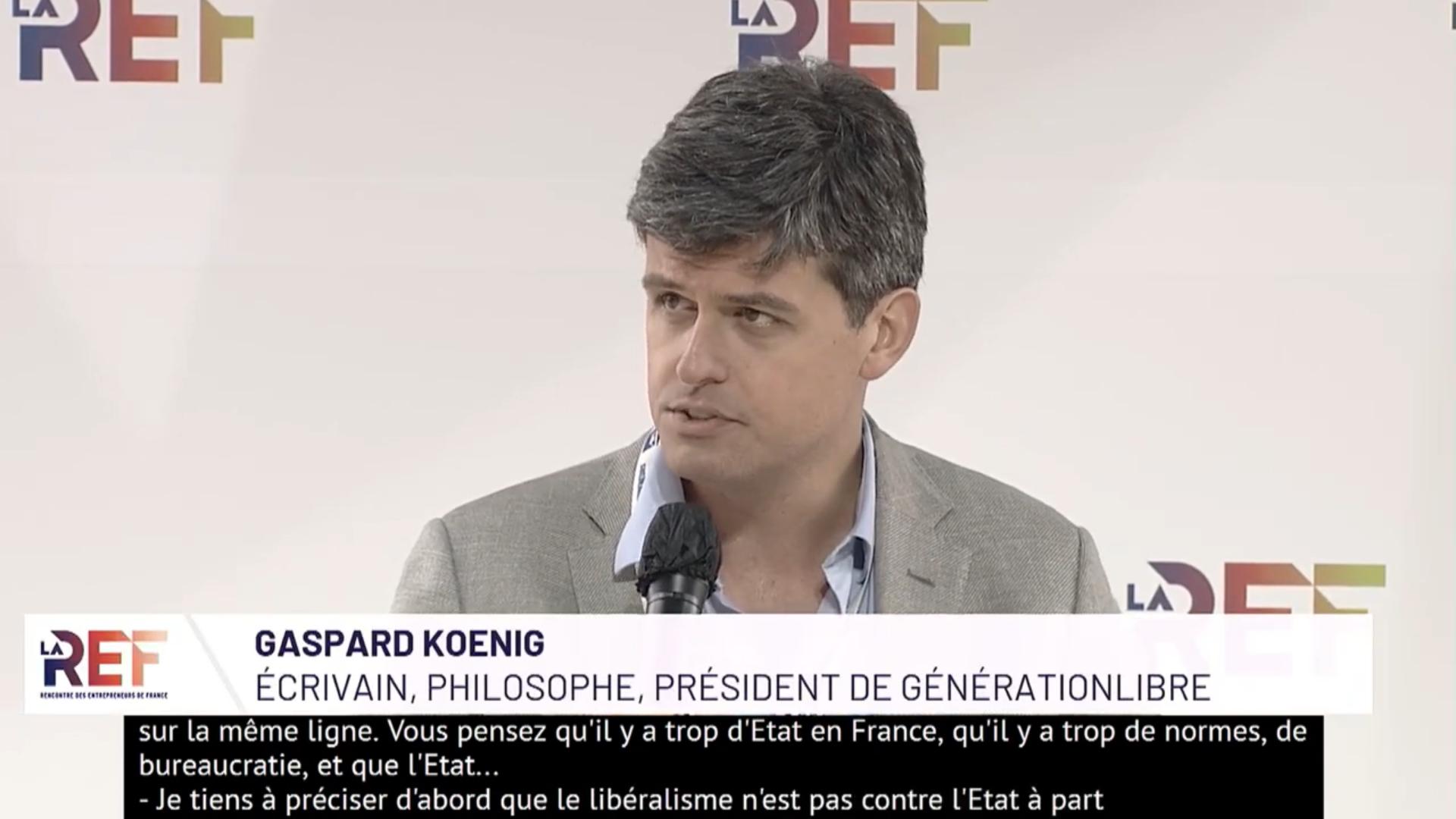 «La France vit dans une douce anarchie.» Gaspard Koenig
